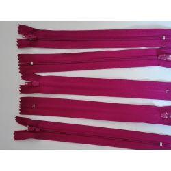 5 FERMETURES eclair FINE POLYESTERE 20 cm COLORIS VIOLINE pochette coussin jupe