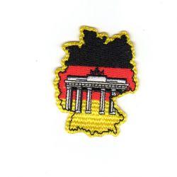 Ecusson thermocollant Monument Allemagne Porte de Brandebourg 4 x 5 cm