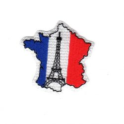 Ecusson thermocollant Monument France Tour Eiffel 5 x 5 cm