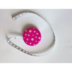 Mètre Ruban de Couturière Etoiles Coloris Rose 150 cm