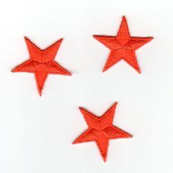 Ecusson Thermocollant 3 Petites ETOILES Coloris Orange