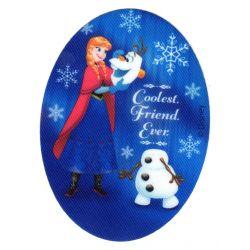 Ecusson thermocollant La Reine des Neiges Frozen Anna et Olaf 8 x 11 cm