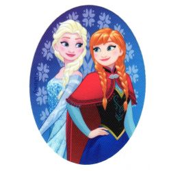 Ecusson thermocollant La Reine des Neiges Frozen Elsa et Anna Portrait 8 x 11 cm