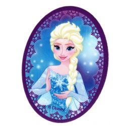 Ecusson thermocollant La Reine des Neiges Frozen Elsa Flocon 8 x 11 cm