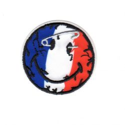 Ecusson thermocollant Smile Smiley France 5 x 5 cm
