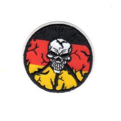 Ecusson thermocollant Tête de Mort Allemagne 5 x 5 cm