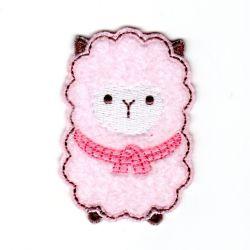 Ecusson thermocollant Mouton Layette Tout doux Coloris Rose 4,50 x 6,50 cm