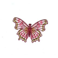 Ecusson Thermocollant PAPILLON Coloris Rose