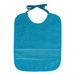 Bavoir à Broder Sans Poche Point de Croix Coloris Turquoise Taille 6 mois / 1 an