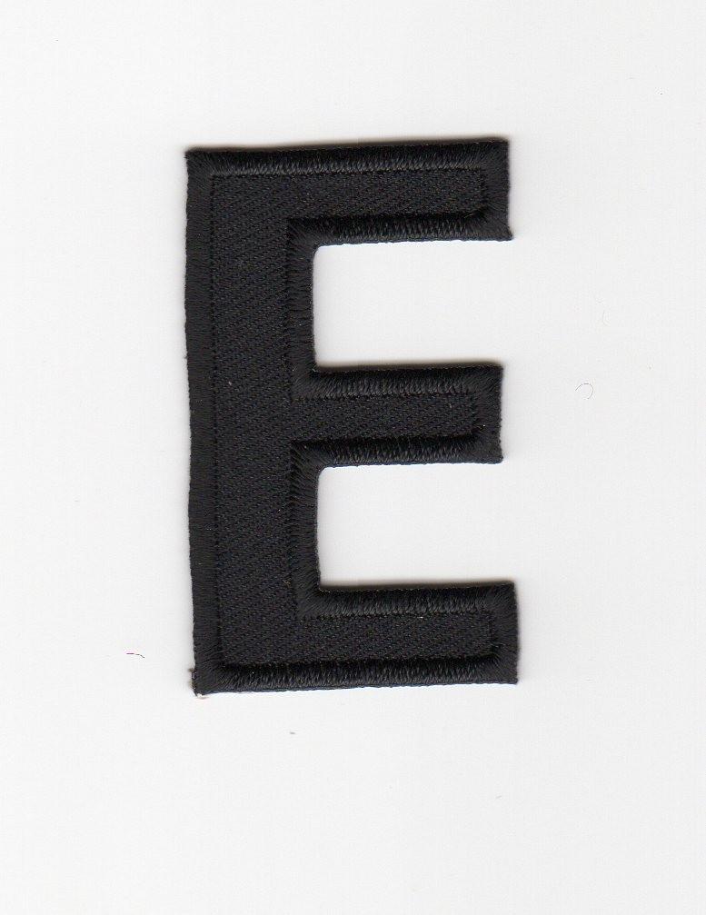 Ecusson thermocollant Alphabet Lettre E Coloris Noir