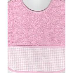 BAVOIR à BRODER Coloris ROSE Taille 6 mois / 1 an