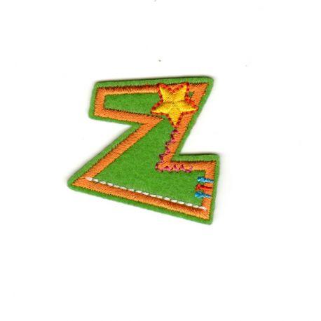 Ecusson thermocollant Alphabet Lettre Z Fun Letter 3,50 cm