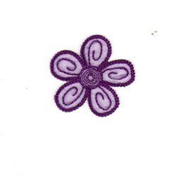 Ecusson Thermocollant Petite FLEUR Coloris VIOLET 4 x 4 cm