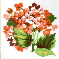 Kit Canevas Petites Fleurs 14 x 14 cm Petits trous