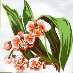 Kit Canevas Orchidée 14 x 14 cm Petits trous