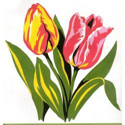 Kit Canevas Les Tulipes 14 x 14 cm Petits trous