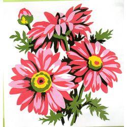 Kit Canevas Marguerite 14 x 14 cm Petits trous