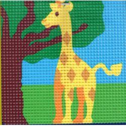 Kit Canevas Girafe 16 x 16 cm Gros trous