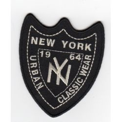 Ecusson Thermocollant NEW YORK Coloris Noir 5,50 x 7 cm