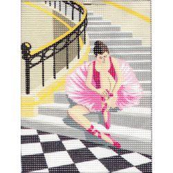 Kit Canevas Petite Ballerine en Tutu Rose 15 x 20 cm