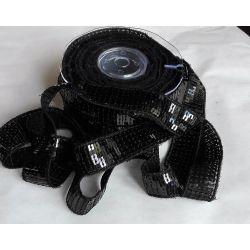 Ruban Galon Paillettes 22 mm Coloris Noir 2 mètres