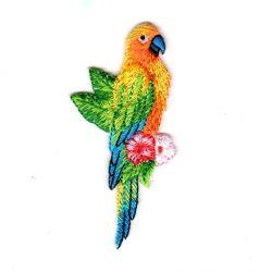 Ecusson Thermocollant Perroquet Ara Coloris Jaune 3 x 7 cm