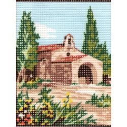 Kit Canevas Maison en Provence A 14 x 18 cm Pénélope Blanc Petits Trous