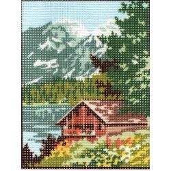 Kit Canevas Maison à la Montagne D 14 x 18 cm Pénélope Blanc Petits Trous