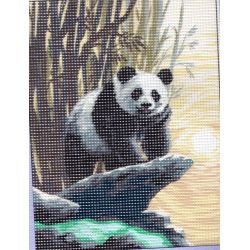 Kit Canevas Le Panda 15 x 20 cm