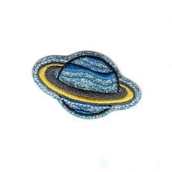Ecusson Thermocollant Planète Saturne 3,50 x 5,50 cm Brillant