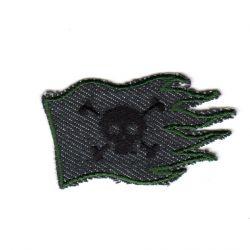 Ecusson Thermocollant Drapeau Pirate Jeans 3 x 6 cm