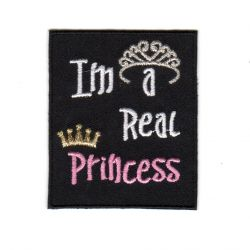 Ecusson Thermocollant Ado I'm A Real Princess 4,50 x 6 cm