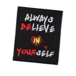 Ecusson Thermocollant Ado Always Believe In Yourself 4,50 x 6 cm