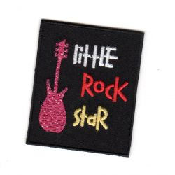 Ecusson Thermocollant Ado Guitare Little Rock Star 4,50 x 6 cm