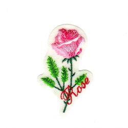 Ecusson Thermocollant La Rose 3,50 x 6 cm