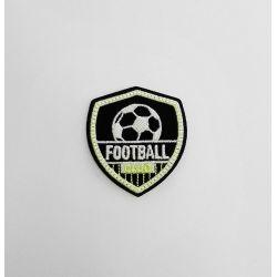 Ecusson Thermocollant Football Club Jaune Luminescent 5 x 5,50 cm