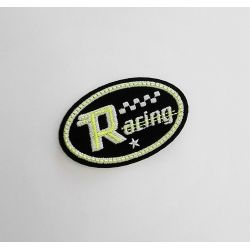 Ecusson Thermocollant Racing Course Jaune Luminescent 4 x 6 cm