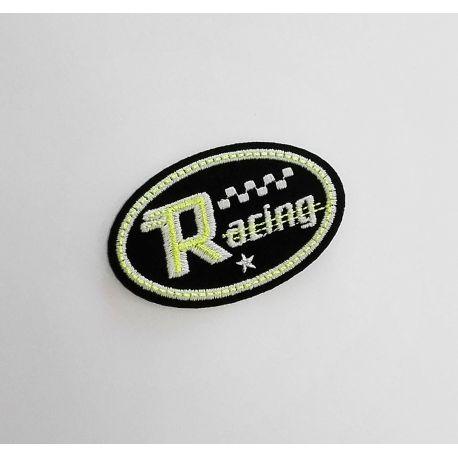 Ecusson Thermocollant Racing Course Jaune Luminescent 4 x 6 cm