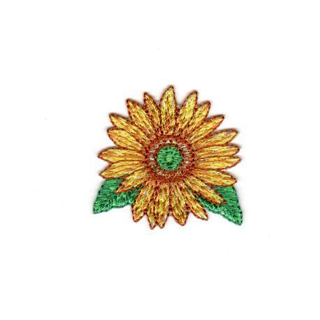 Ecusson Thermocollant Fleur Jaune 4 x 4 cm