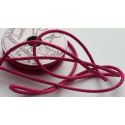 RUBAN Rose Fuschia 4 mm Cordon 2 Mètres