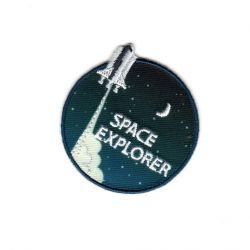 Ecusson Thermocollant Fusée Space Explorer 4,50 x 4,50 cm