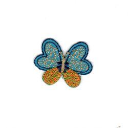 Ecusson Thermocollant Papillon avec Dorures 3 x 4 cm