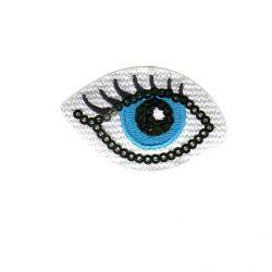 Ecusson Thermocollant Oeil Bleu 3 x 5,50 cm