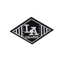 Ecusson Thermocollant L.A. College Coloris Noir 4 x 7 cm