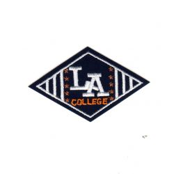 Ecusson Thermocollant L.A. College Coloris Marine 4 x 7 cm