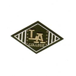 Ecusson Thermocollant L.A. College Coloris Kaki 4 x 7 cm