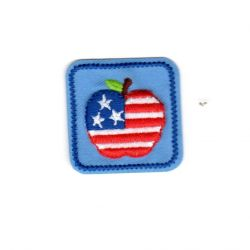 Ecusson Thermocollant Pomme Apple USA 4 x 4 cm