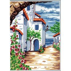 Kit Canevas Villa Au Loin, La Mer 22 x 33 cm