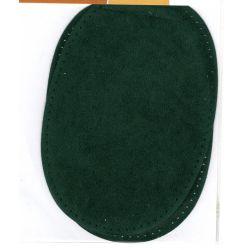 2 Renforts coude genou à coudre Coloris Vert Foncé Imitation Daim