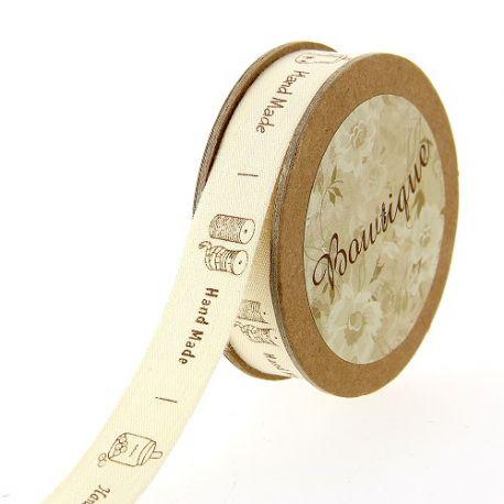 Ruban Coton 15 mm Notes de Musique 5 Mètres